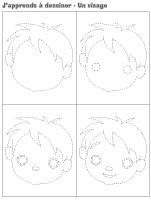 J'apprends à dessiner-Un visage