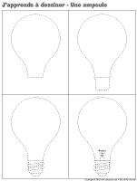 J'apprends à dessiner-Une ampoule
