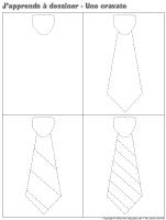 J'apprends à dessiner-Une cravate
