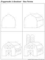 J'apprends à dessiner-Une ferme