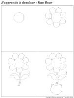 J'apprends à dessiner-Une fleur