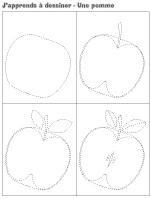 J'apprends à dessiner-Une pomme