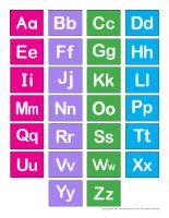J'apprends mon alphabet de A à Z