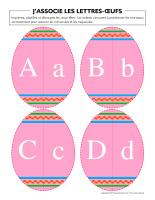 J'associe les lettres œufs