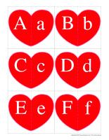 J'associe les lettres-Cœurs