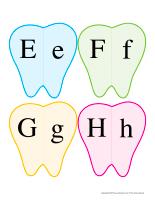 J'associe les lettres-Dents