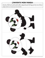 J'invente mon panda