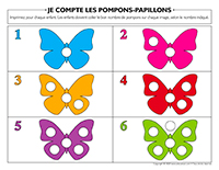 Je compte les pompons-Papillons