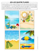 Jeu-Les quatre plages