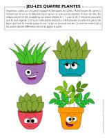Jeu-Les quatre plantes