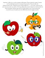 Jeu-Les quatre pommes