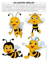 Jeu-Quatre abeilles
