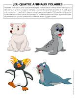 Jeu-Quatre animaux polaires 2020
