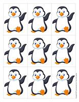 Jeu-Quatre animaux polaires