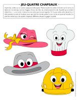 Jeu-Quatre chapeaux