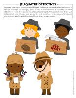 Jeu Quatre détectives