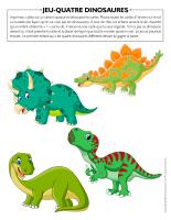 Jeu-Quatre-dinosaures