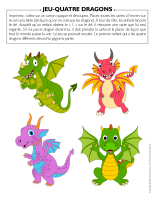 Jeu Quatre dragons