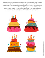 Jeu-Quatre gâteaux