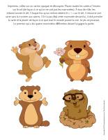Jeu-Quatre marmottes