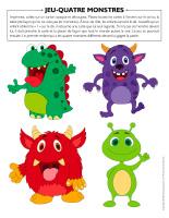 Jeu-Quatre monstres