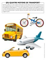 Jeu-Quatre moyens de transport