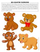 Jeu Quatre oursons