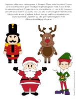 Jeu-Quatre personnages de Noël