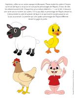 Jeu-Quatre personnages de Pâques