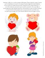 Jeu-Quatre personnages de la Saint-Valentin