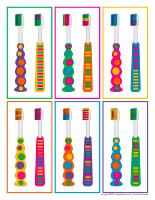 Jeu-brosses à dents-colorées