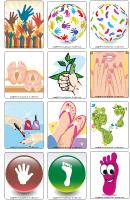 Jeu d'images - Des pieds et des mains