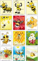 Jeu d'images - Les abeilles