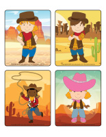 Jeu d'images-Cowboys-1