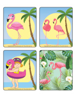 Jeu d'images-Flamants roses-2