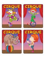 Jeu d'images-Le cirque