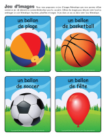 Jeu d'images-Les ballons