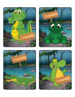 Jeu d'images-Les crocodiles