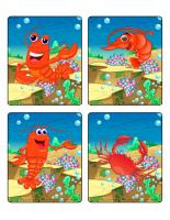 Jeu d'images-Les crustacés
