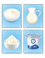 Jeu d'images-Les produits laitiers-1
