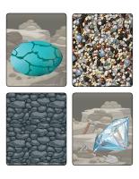 Jeu d'images-Les roches et minéraux