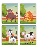 Jeu d'images-Les vaches