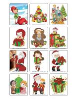 Jeu d'images-Noël-échange de cadeaux