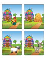 Jeu d'images-Pâques-La ferme-1