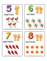 Jeu d'images-chiffres 0 à 12 espagnol
