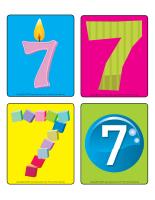 Jeu d'images-le chiffre 7