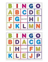 Jeu de bingo-Les lettres