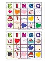 Jeu de bingo-Saint-Valentin-Lettres d'amour