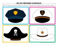 Jeu de mémoire-Chapeaux