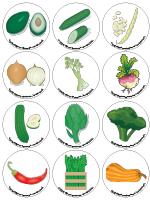 Jeu de mémoire-Les légumes